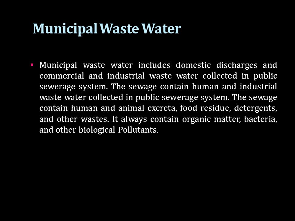 Municipal Waste Water