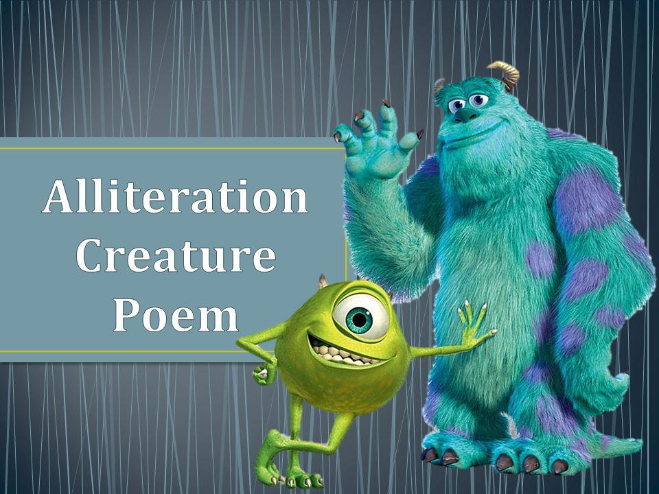 Alliteration Creature Poem