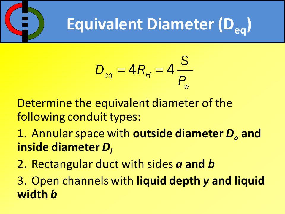 Equivalent Diameter (Deq)