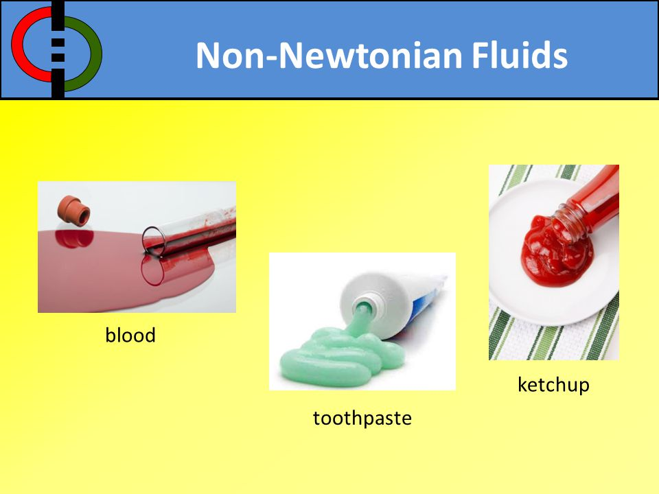 Non-Newtonian Fluids blood ketchup toothpaste