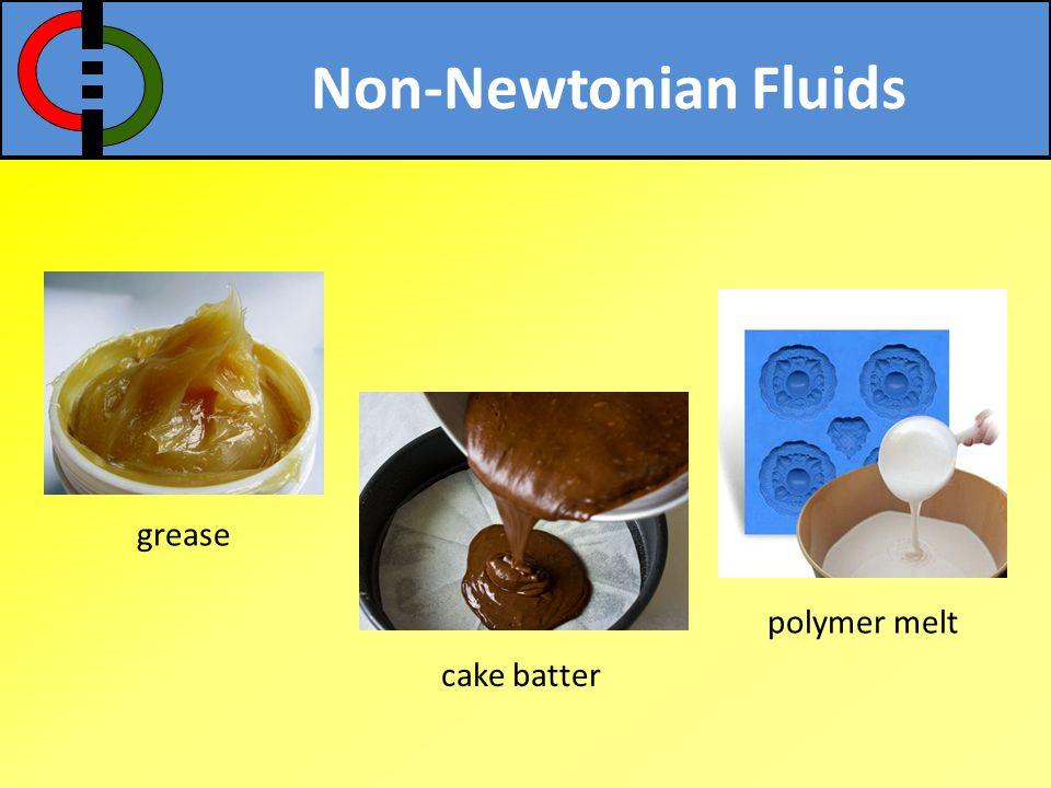 Non-Newtonian Fluids grease polymer melt cake batter