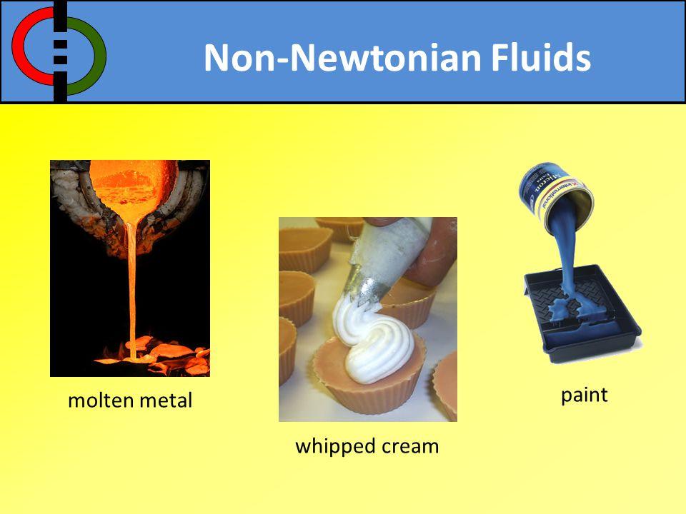 Non-Newtonian Fluids paint molten metal whipped cream