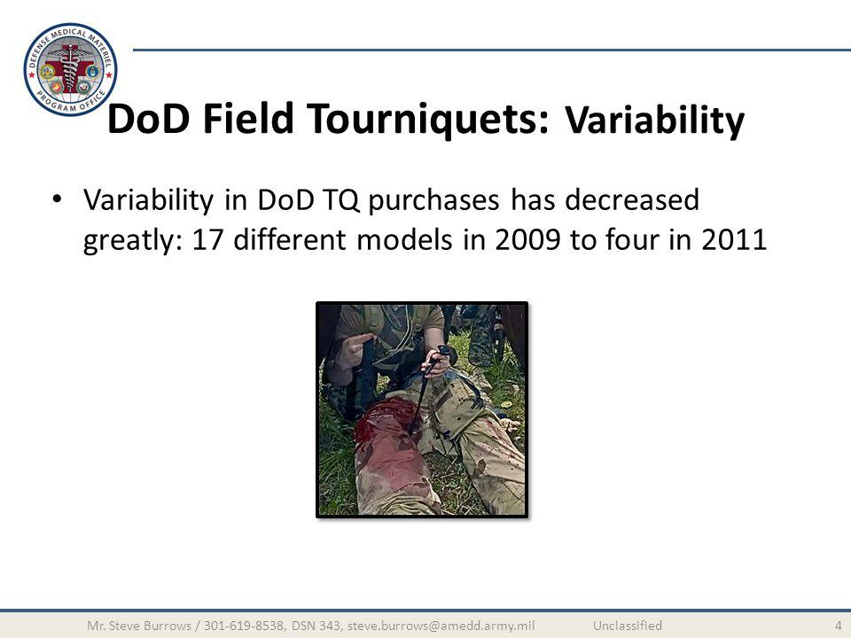DoD Field Tourniquets: Variability