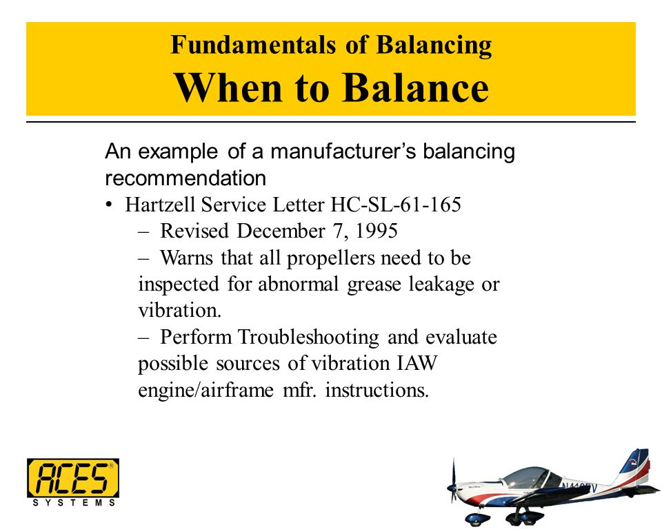 Fundamentals of Balancing When to Balance