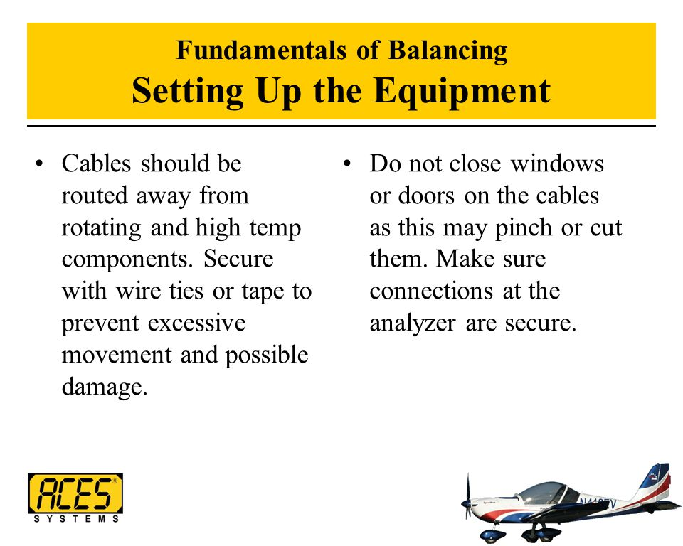 Fundamentals of Balancing Setting Up the Equipment