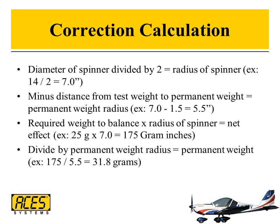 Correction Calculation