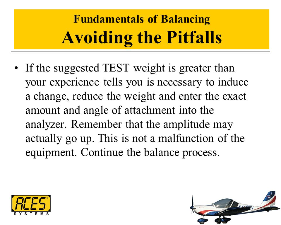 Fundamentals of Balancing Avoiding the Pitfalls