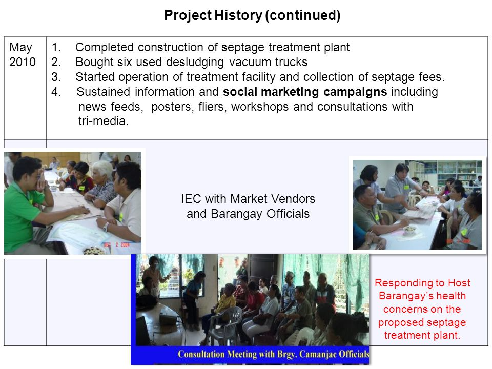 Project History (continued)