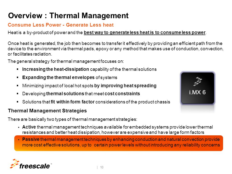 Overview : Thermal Management System Design