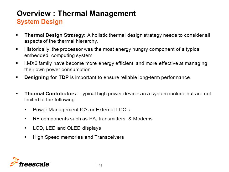 Overview : Thermal Constraints