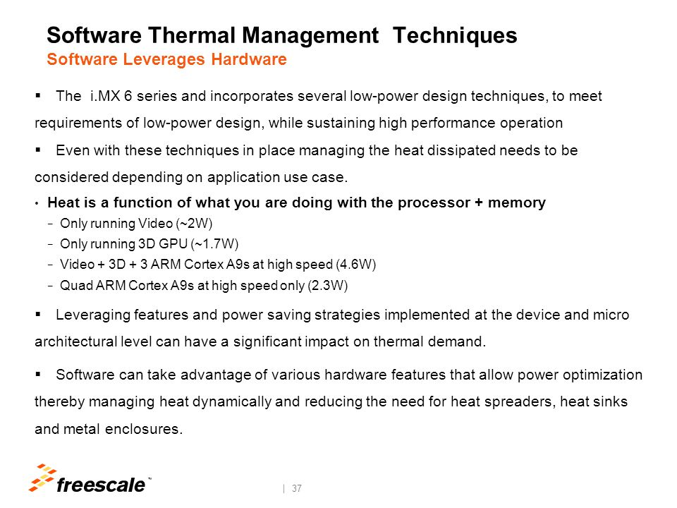 Software Thermal Management Techniques