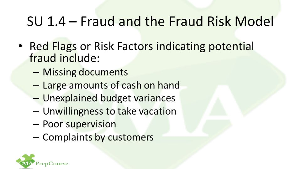 SU 1.4 – Fraud and the Fraud Risk Model
