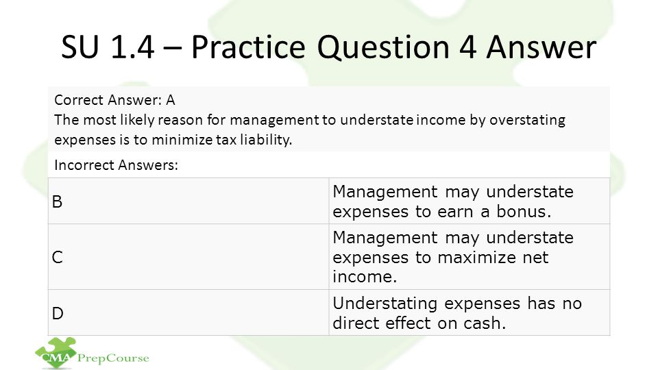 SU 1.4 – Practice Question 4 Answer