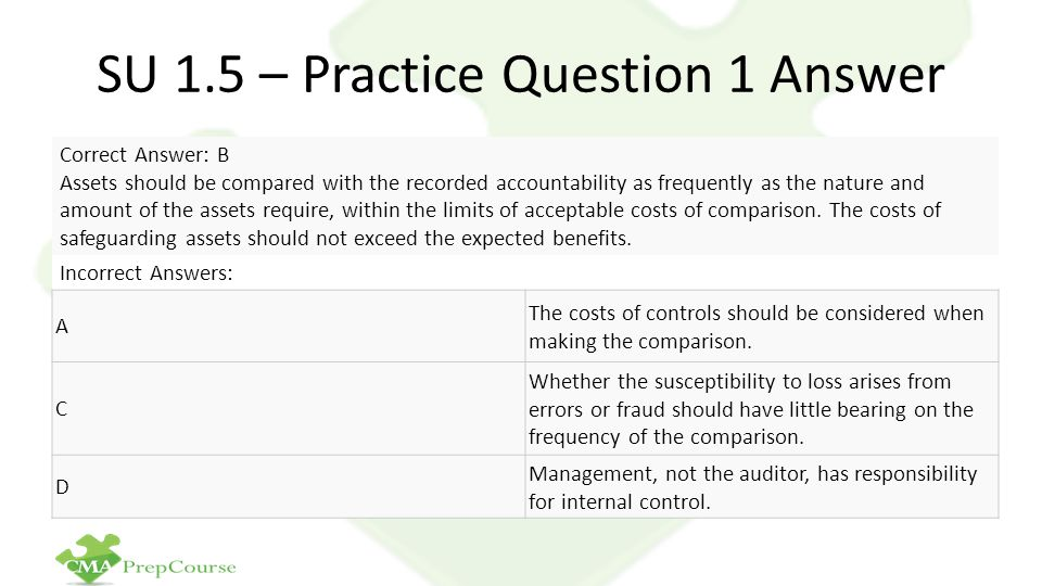 SU 1.5 – Practice Question 1 Answer