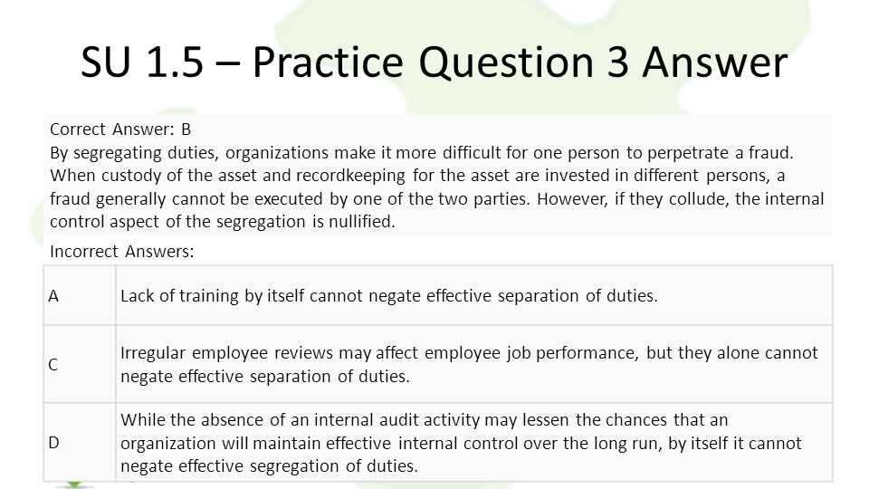 SU 1.5 – Practice Question 3 Answer