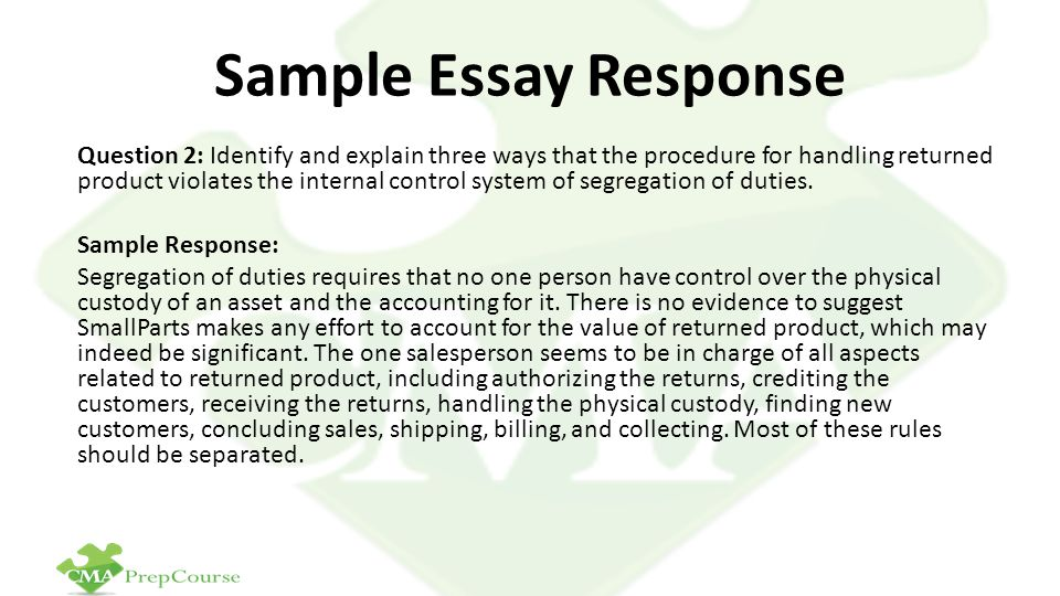Sample Essay Response