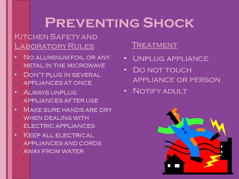 Preventing Shock Kitchen Safety and Laboratory Rules Treatment