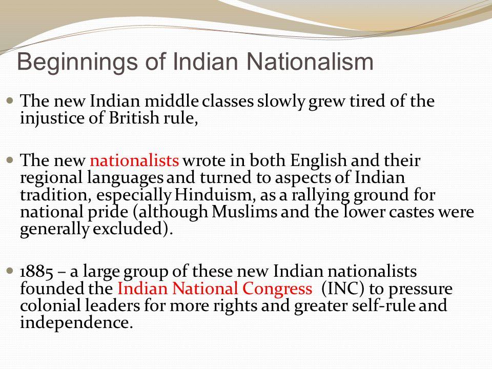 Beginnings of Indian Nationalism