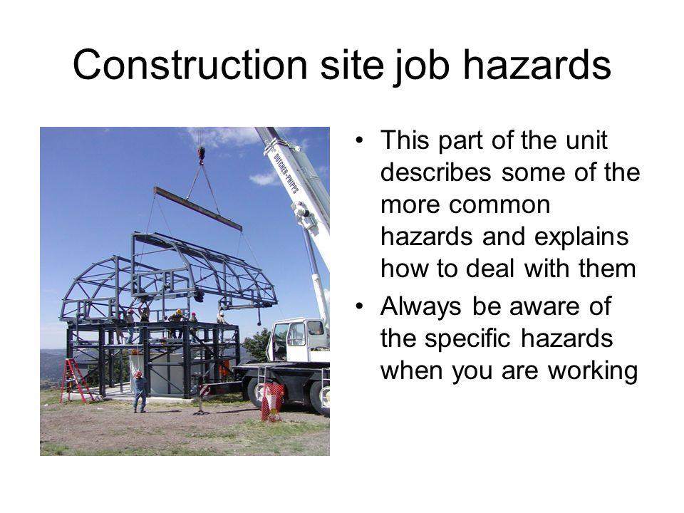 Construction site job hazards