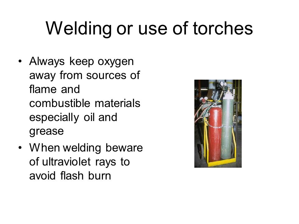 Welding or use of torches