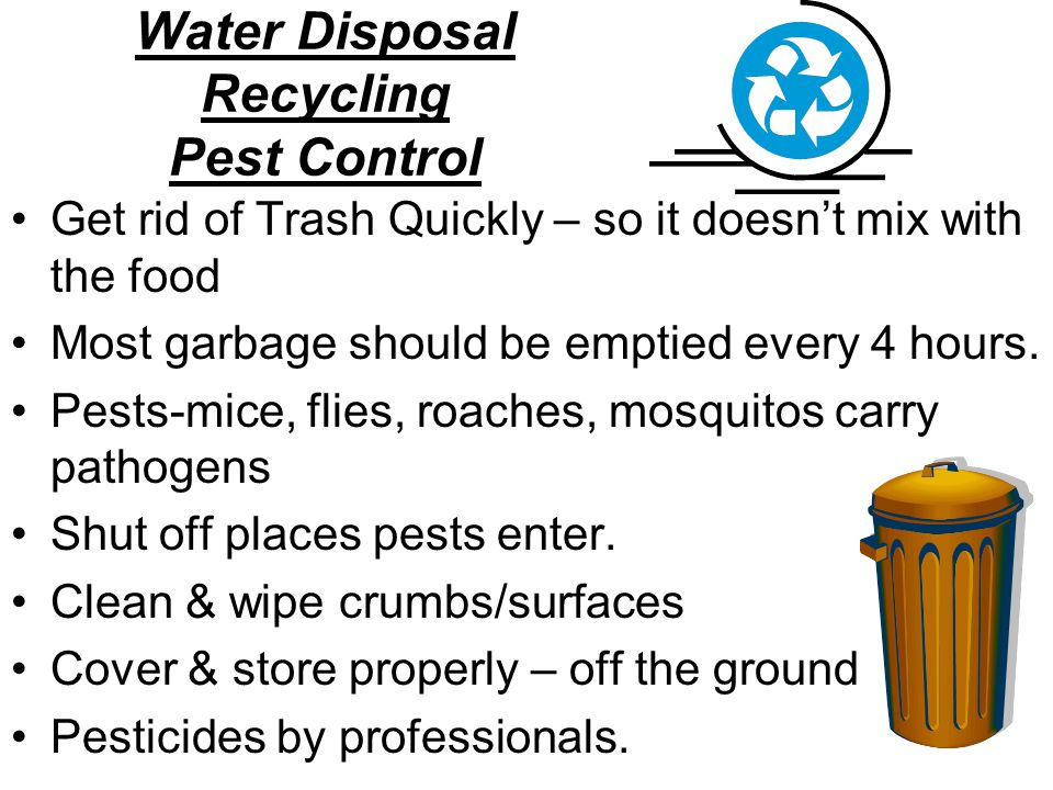 Water Disposal Recycling Pest Control