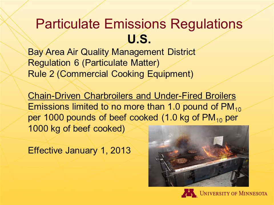 Particulate Emissions Regulations