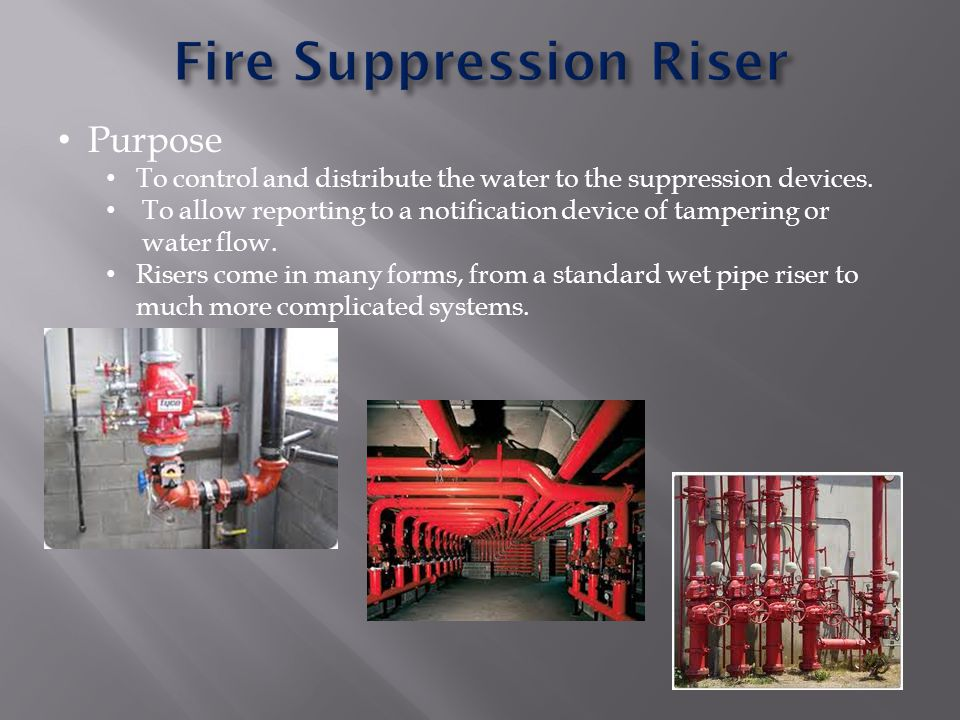 Fire Suppression Riser
