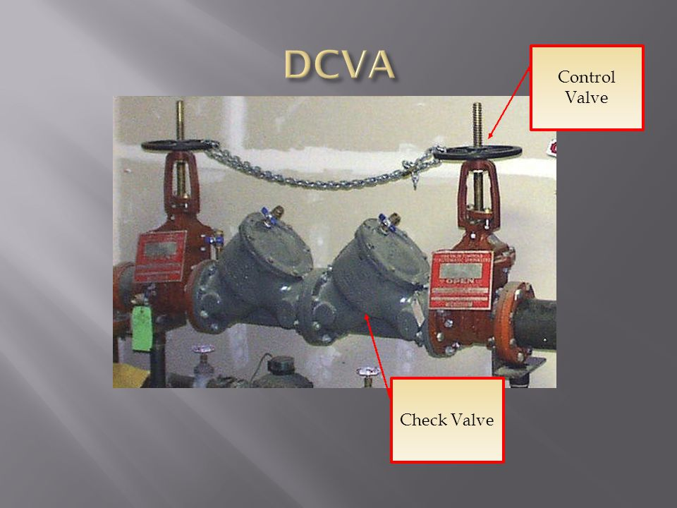 DCVA Control Valve Check Valve