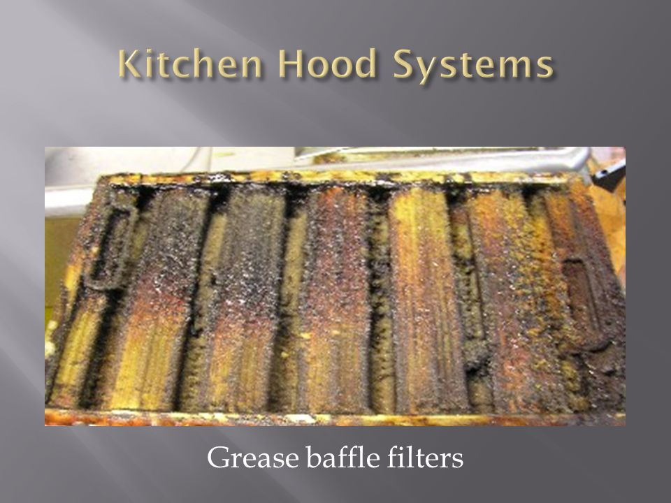 Kitchen Hood Systems Grease baffle filters