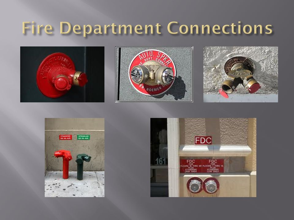 Fire Department Connections