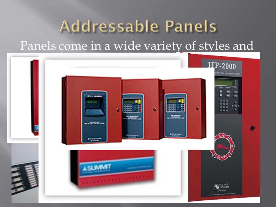 Panels come in a wide variety of styles and abilities.