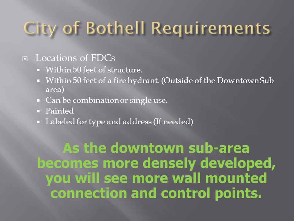 City of Bothell Requirements