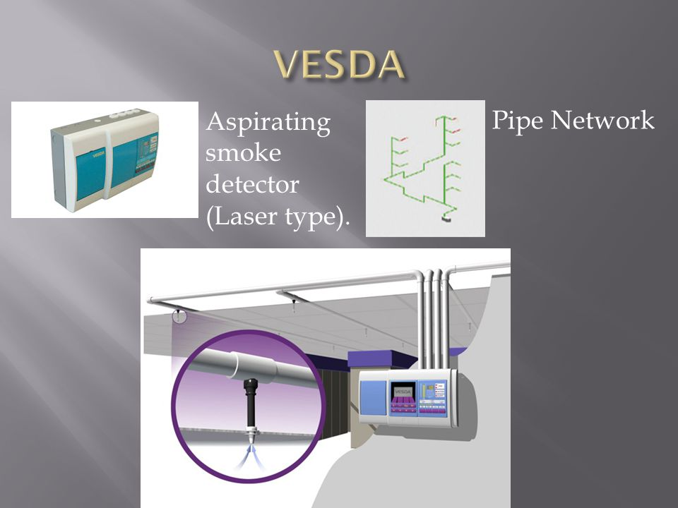 VESDA Aspirating smoke detector (Laser type). Pipe Network
