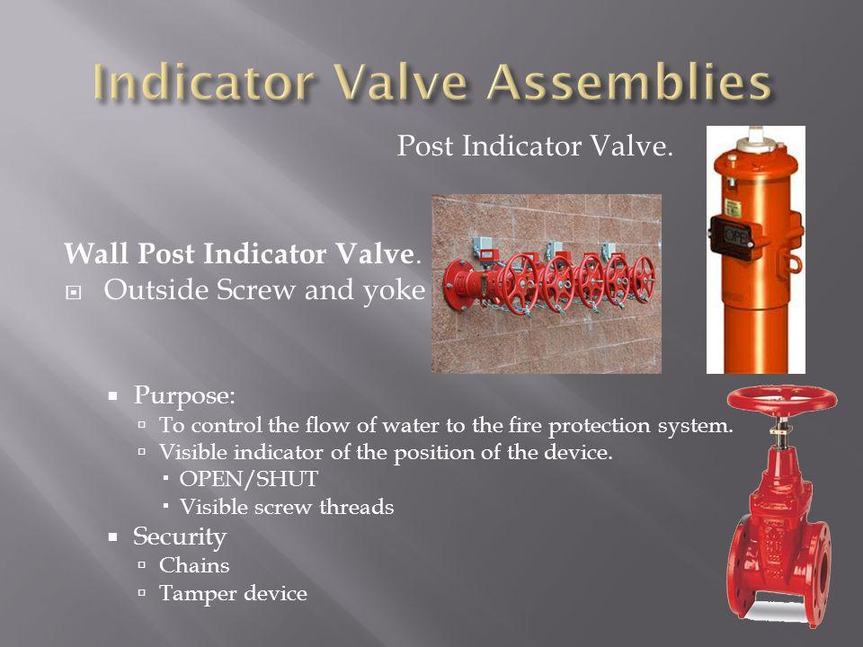 Indicator Valve Assemblies