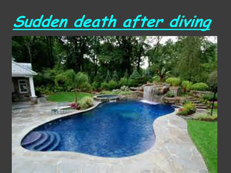 Sudden death after diving