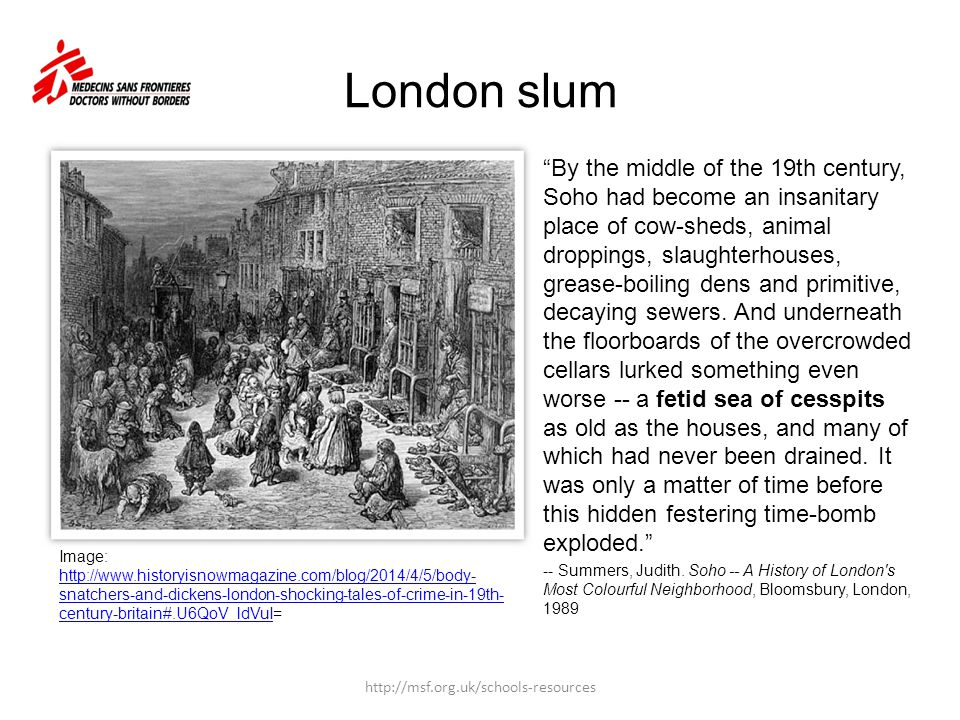 London slum