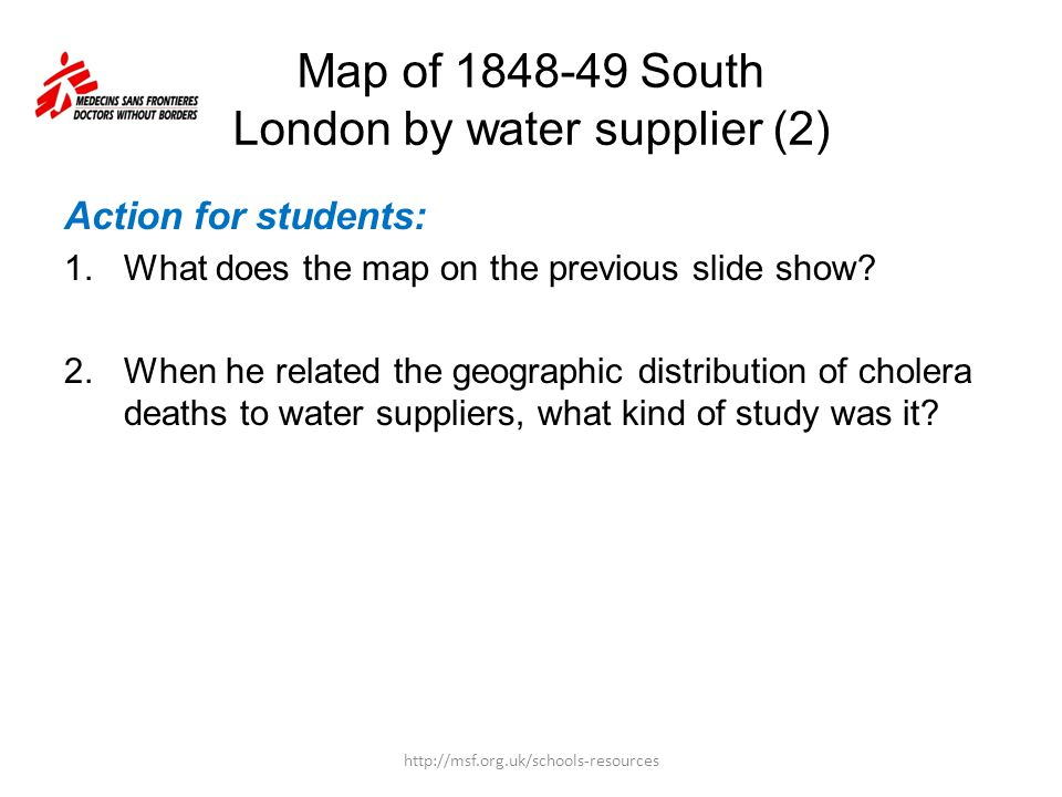 Map of 1848-49 South London by water supplier (2)