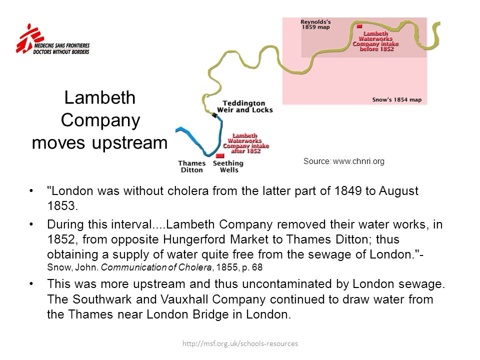 Lambeth Company moves upstream