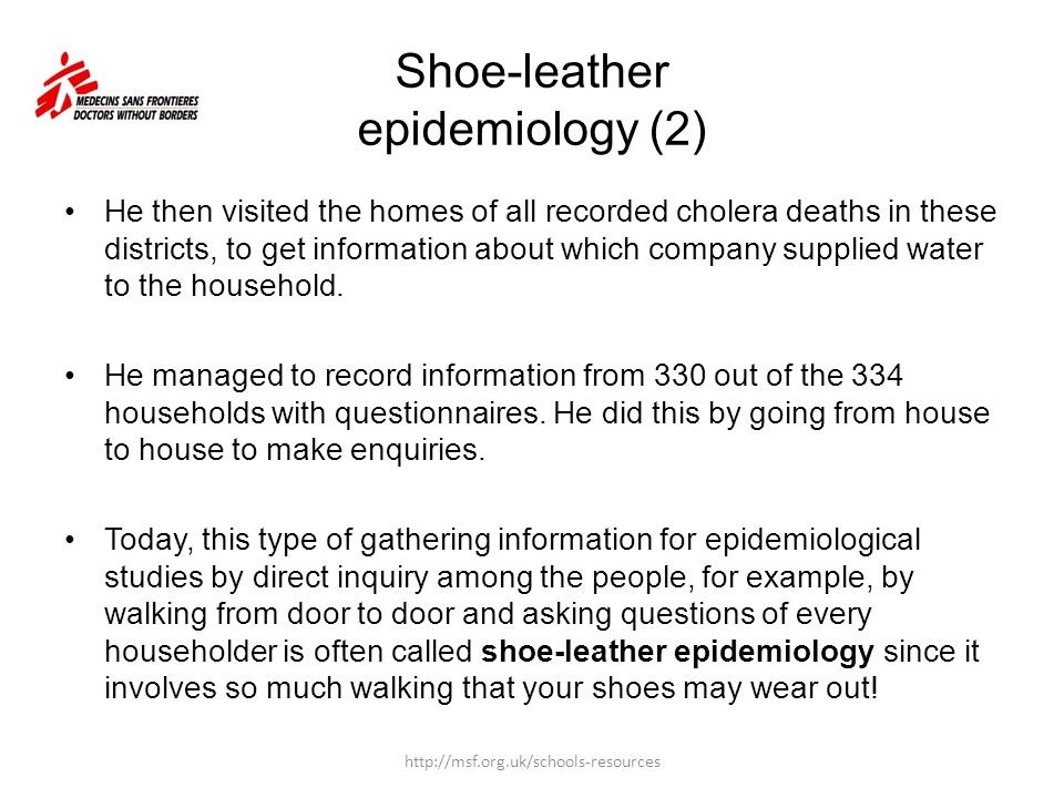 Shoe-leather epidemiology (2)