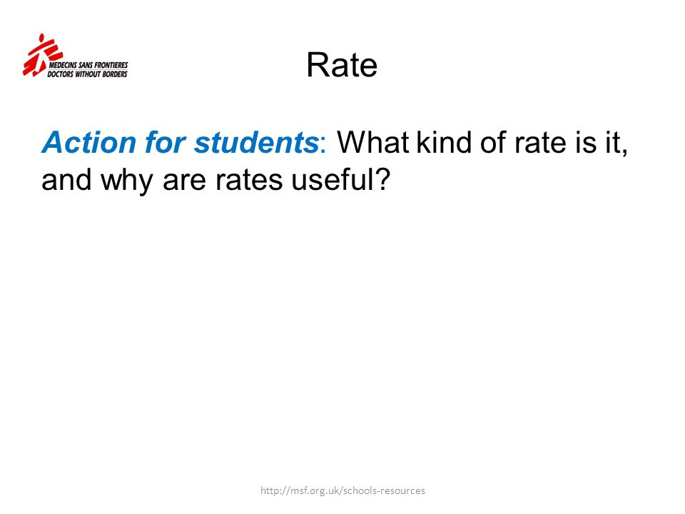 Rate Action for students: What kind of rate is it, and why are rates useful.