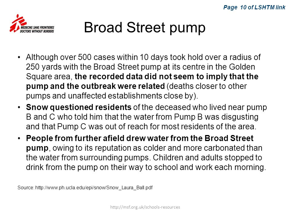 Page 10 of LSHTM link Broad Street pump.