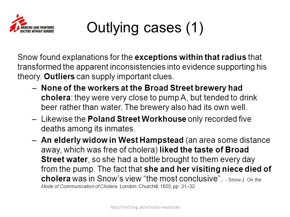 Outlying cases (1)
