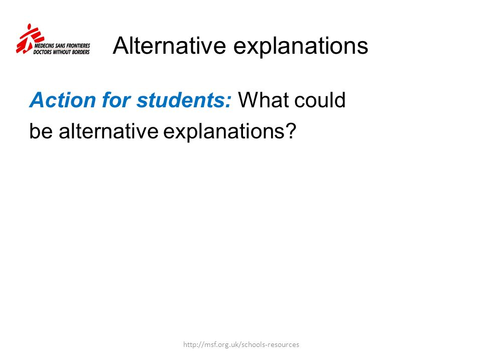 Alternative explanations