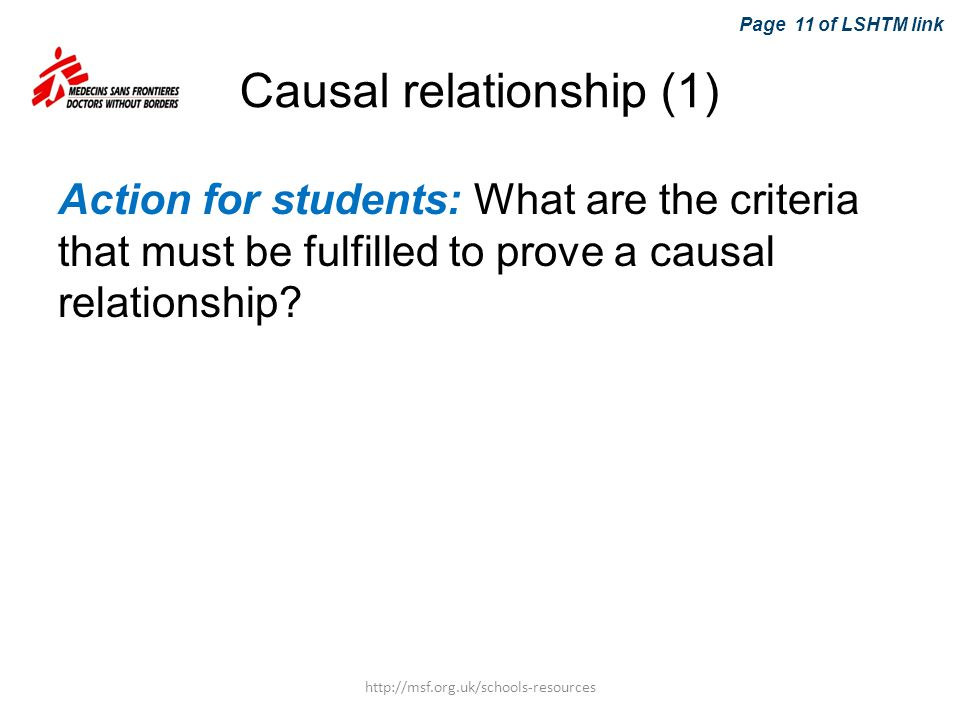 Causal relationship (1)