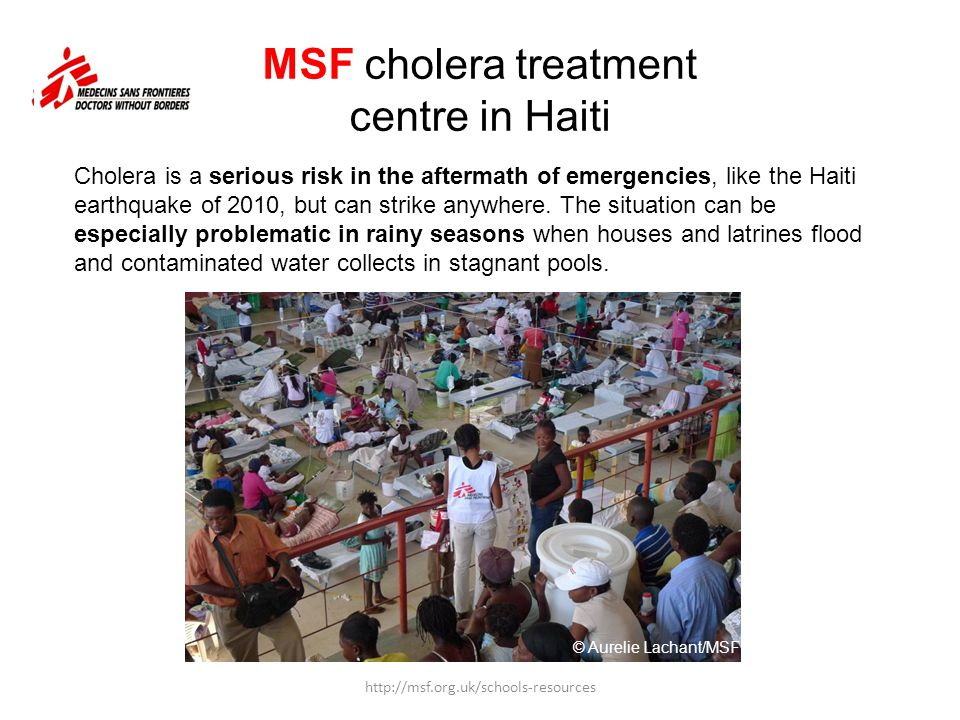 MSF cholera treatment centre in Haiti