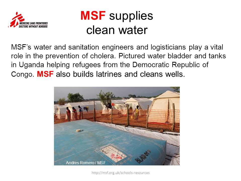 MSF supplies clean water