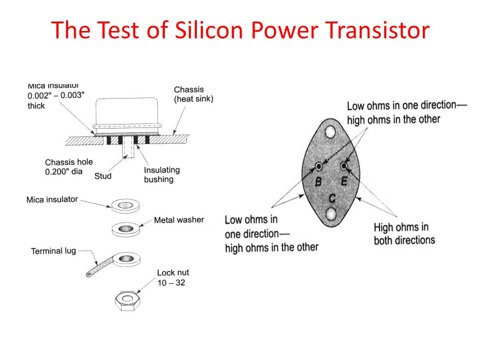 The Test of Silicon Power Transistor