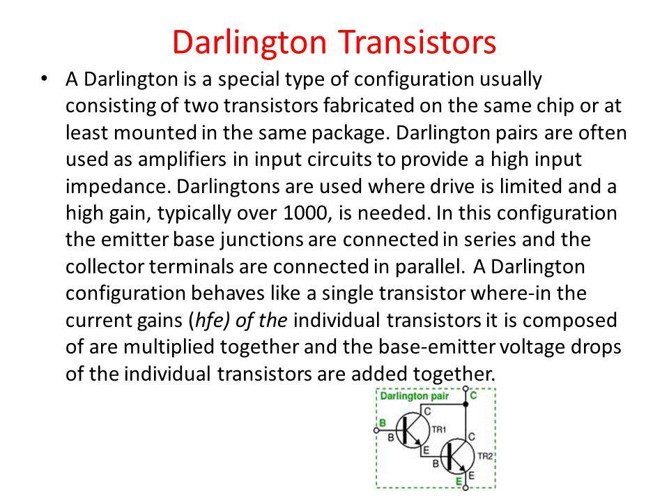 Darlington Transistors