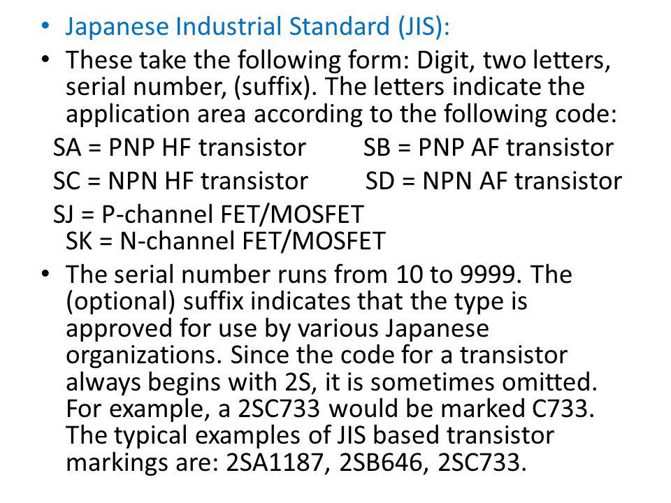 Japanese Industrial Standard (JIS):