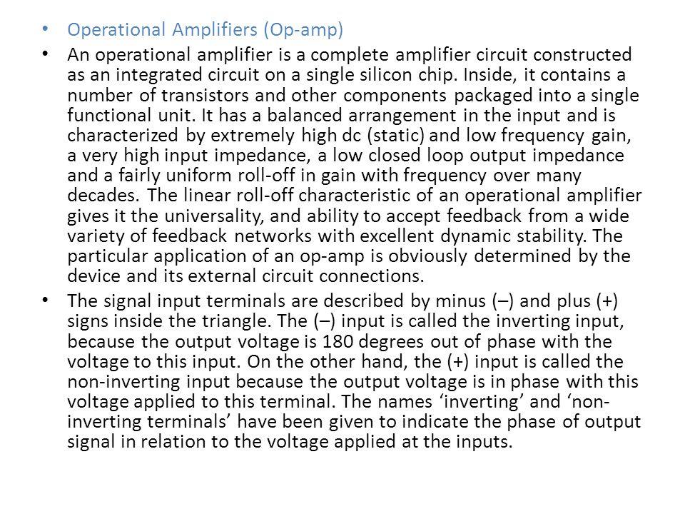 Operational Amplifiers (Op-amp)